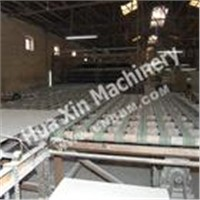 Minerial wool acoustic board production line