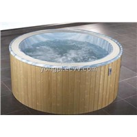 Outdoor Spa With Round Shape