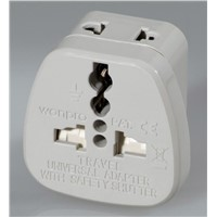 WASDB Univeral Safety Travel Adapter w/ 2-pin Universal Socket Series