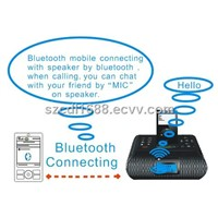 bluetooth /iphone/ipod /Alarm clock speaker