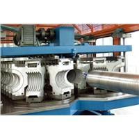 HDPE double-wall corrugated pipe extrusion