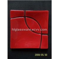 glass square plate