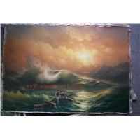 museum sea scenery oil painting