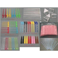 plastic ice picks and fruit picks stirrer pizza supports