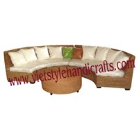 water hyacinth sofa.