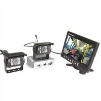 CCTV Camera Systems with 7-inch LCD, Twin-cameras for RV's, Trucks, Buses