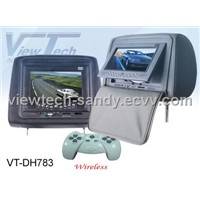 Headrest car dvd player + 7 inch Car LCD monitor + IR / FM /Game function /SD/USB reader (VT-DH783)