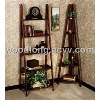 Wooden Corner & Ladder Shelves