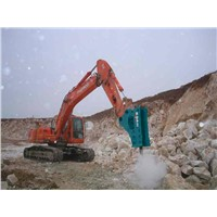 hydraulic breaker and chisel