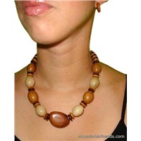 Casual necklace and pendants made out of Tagua Exotic Ivory