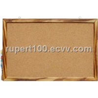 Corkboard with baked wooden frame