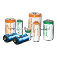 Cylindrical lithium thionyl chloride batteries
