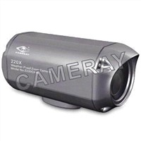 Mini 220x Zoom CCD Camera with 480TV Lines Horizontal Resolution and 12V DC Voltage