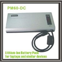 Lithium battery (PM60-DC) for digital devices such as DVD/DVB