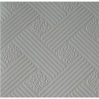 PVC Laminated Gypsum Ceiling Tile, Backing with Aluminum Foil