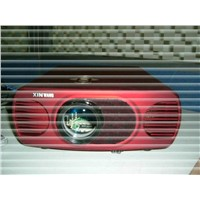 T909 Red 1080p LCD projector for home theater