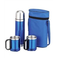 flask gift set/stainless steel bottle/coffee cup/thermos/auto mug