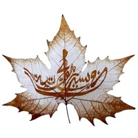 pressed leaf sculpture,leaf home decor sh0005