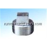 stainless steel pipe fittings(Square Plugs)