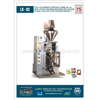FULLY AUTOMATIC VERTICAL FORM, FILL AND SEAL POUCH PACKING MACHINE WITH AUGER FILLER (COLLAR TYPE)