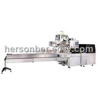 HIGH SPEED HORIZONTAL FLOW WRAPPER-BOX MOTION