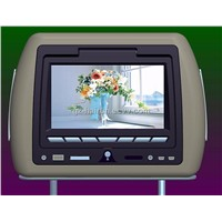 "7"" HEADREST MONITOR WITH DVD PLAYER AND PILLOW"