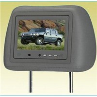 7 Inches Screen Headrest Monitor with human body respond MP4 for advertising