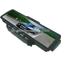Bluetooth Moblephone car kit mirror with Caller Name,Wireless earpiece,Built-in FM&Microphone..