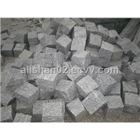 G603 China granite paving cube stone