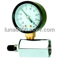 Gas test pressure gauge