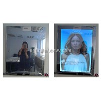 LED mirror inductive light box