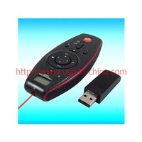Mutifunction usb remote control RC Lase Pointer with lcd time display