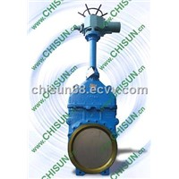 QY nonrising stem electric-knife gate valve