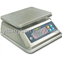Waterproof stainless steel weighing scale
