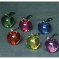glass and crystal crafts-apple