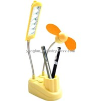 mini talbe lamp with fan