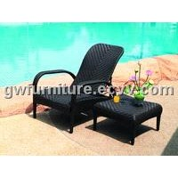 outdoor PE rattan lounge