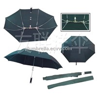 Aluminum Shaft Fiber Ribs Straight Umbrella