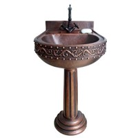copper pedestal sink corner sink