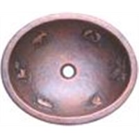 oval copper bath sink bathbasin