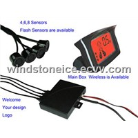 Three Colour-LCD Display Car Parking Sensor System