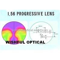 Cr39 (1. 499, 1. 56) Progressive Optical Lens