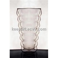 Double Wall Glass Cup-Wave Wall
