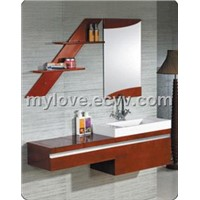 Luxury solid wood bathroom cabinet