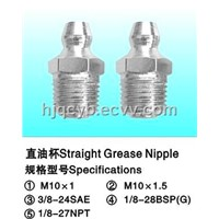 Straight Grease Nipple - M10 St