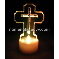 LED candle with cross