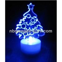 LED candles with Christmas tree