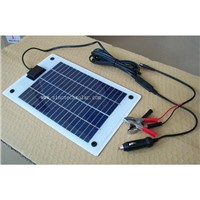 5W semi flexible solar charger kit