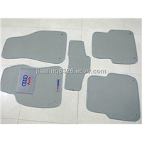Audi A6L Grey Leather Tailored Floor Mats