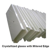 Crystallized Glasss with Mitered Edge